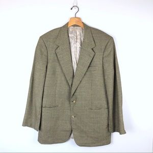 VINTAGE Nordstrom plaid tan suit coat